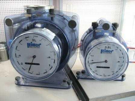 TG 05 Счетчик газа барабанный Ritter (1-60 л/час)